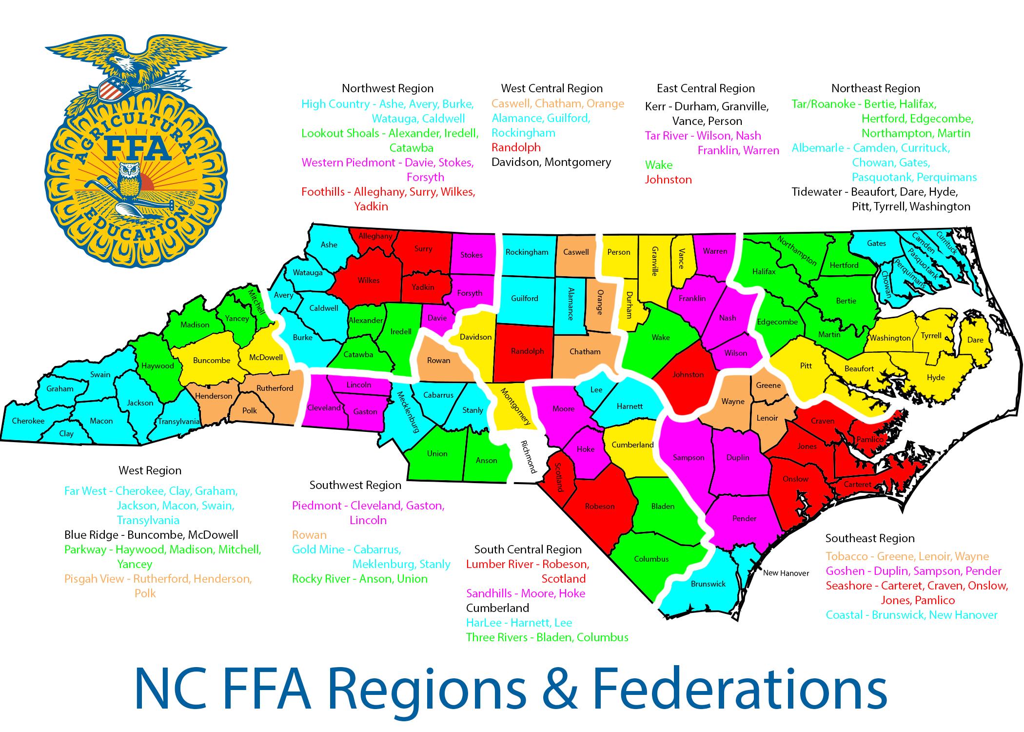 Regional Info   NC FFA   North Carolina Future Farmers of America